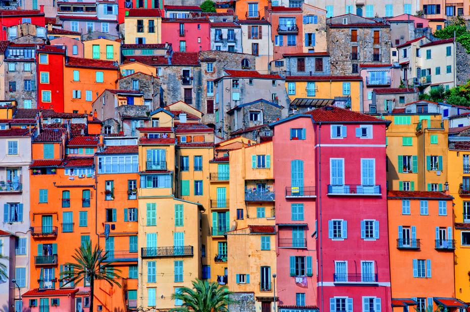 Provence-Village-of-Menton-Provence-Alpes-Cote-d'Azur-France