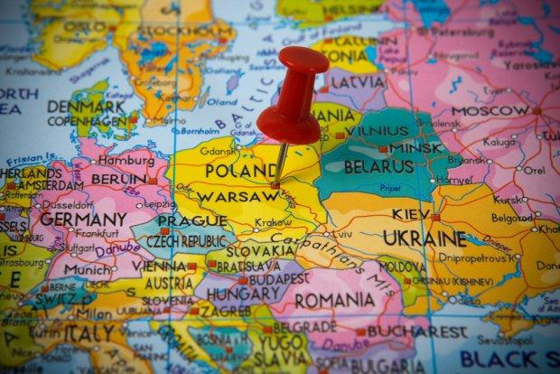 Polska--mapa--Europa